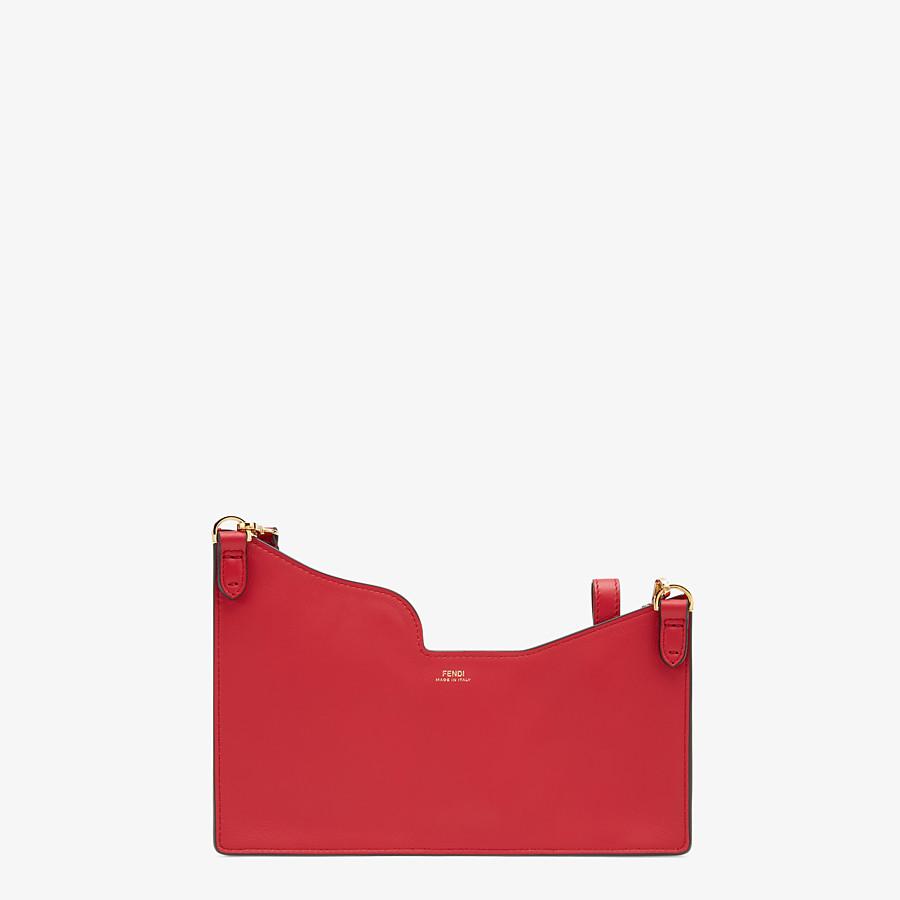 FENDI 3-POCKET MINI BAG - Red leather messenger - view 3 detail