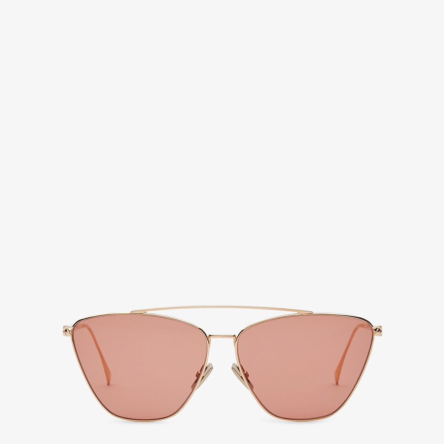 FENDI BAGUETTE - Rose-gold-colored sunglasses - view 1 detail