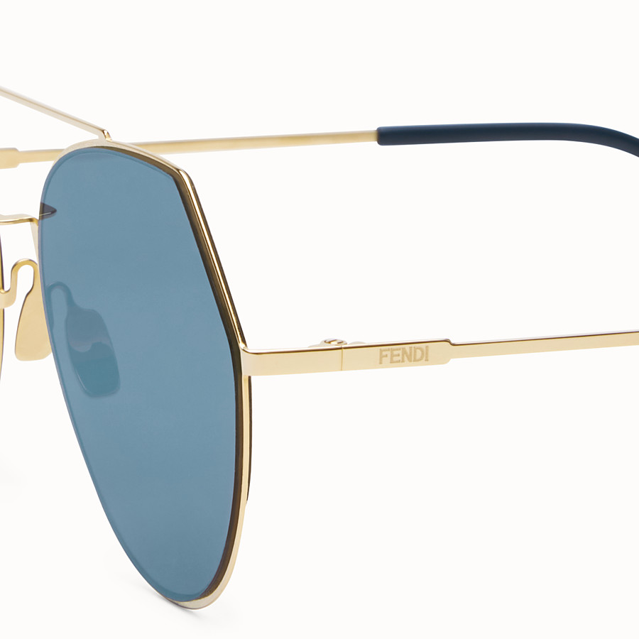 FENDI EYELINE - Goldfarbene Sonnenbrille - view 3 detail