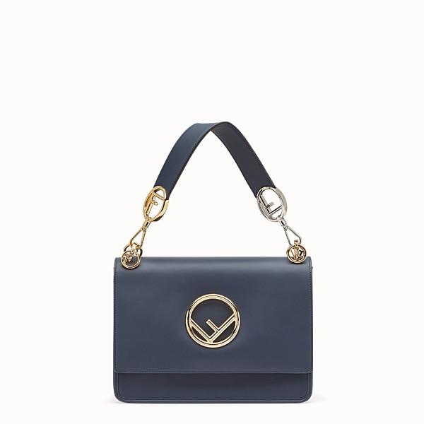 FENDI KAN I F - Blue leather bag - view 1 small thumbnail