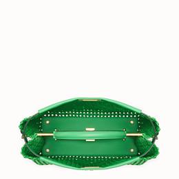 FENDI PEEKABOO ICONIC LARGE - Green leather interlace bag - view 5 thumbnail