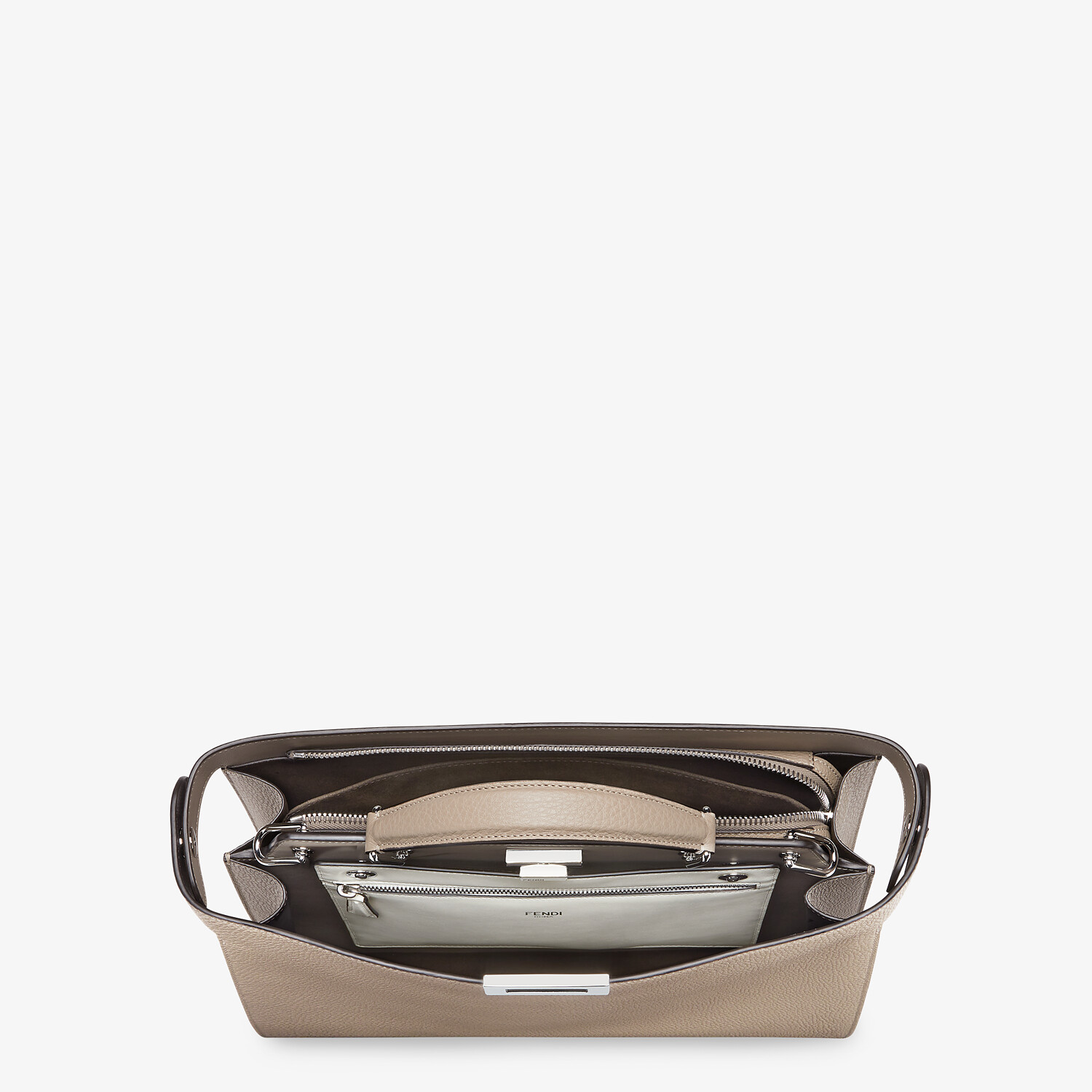 FENDI PEEKABOO ISEEU MEDIUM - Beige leather bag - view 5 detail