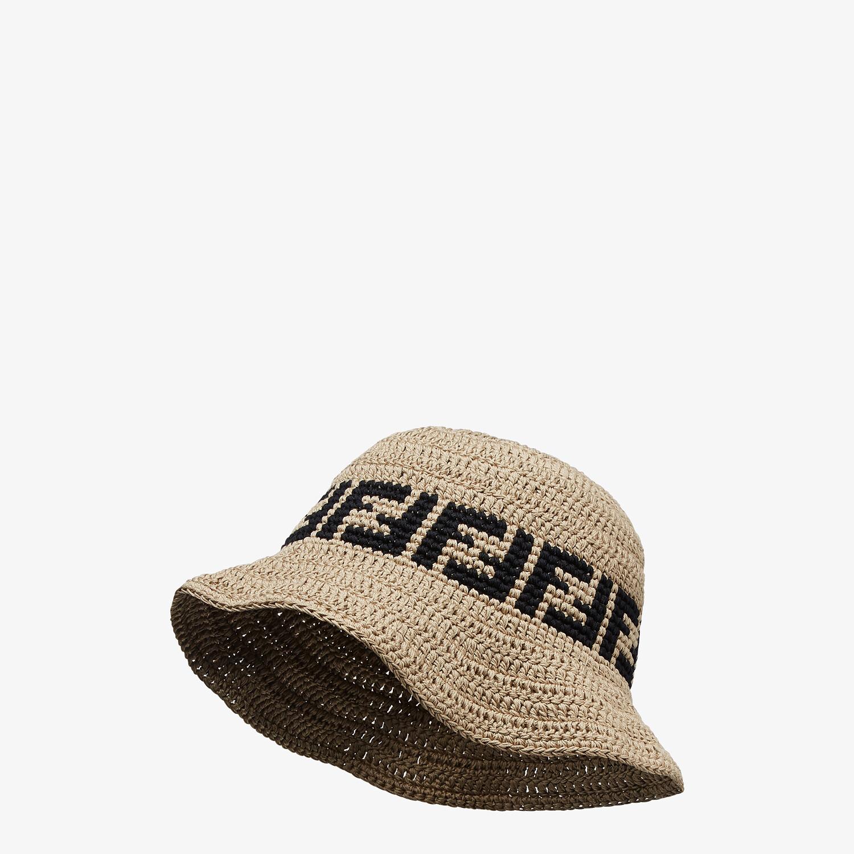 FENDI HAT - Beige cotton hat - view 1 detail