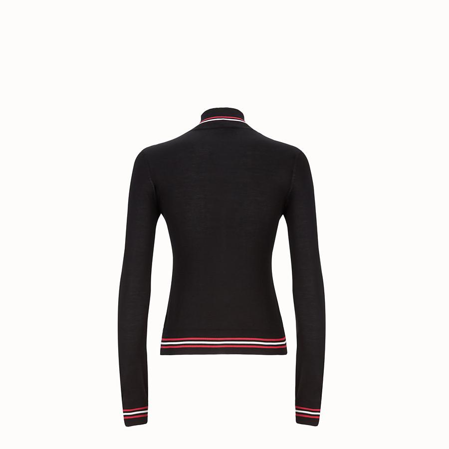 FENDI 스웨터 - 블랙 컬러의 실크 터틀넥 - view 2 detail