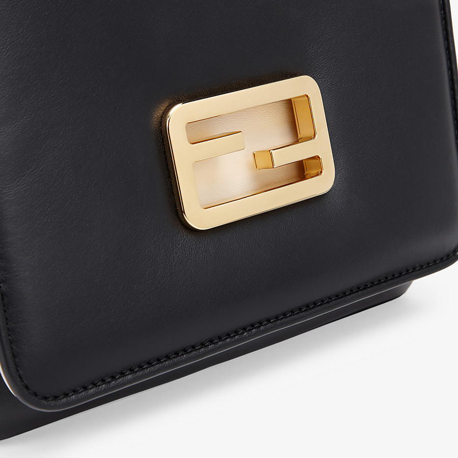 FENDI FENDI ID SMALL - Black leather bag - view 5 detail