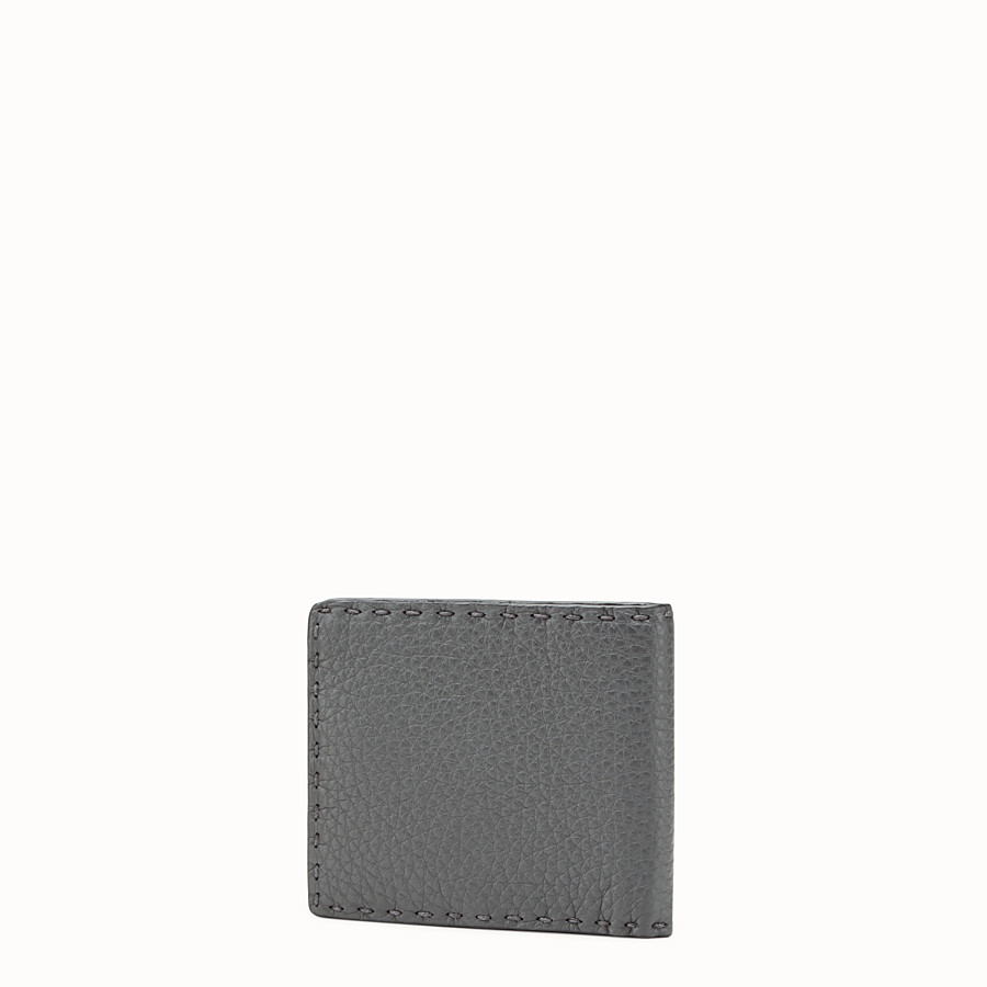 FENDI WALLET - Grey Roman leather horizontal wallet - view 2 detail
