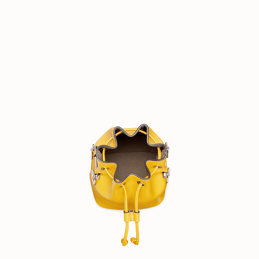 FENDI MON TRESOR - Yellow leather mini-bag - view 4 detail