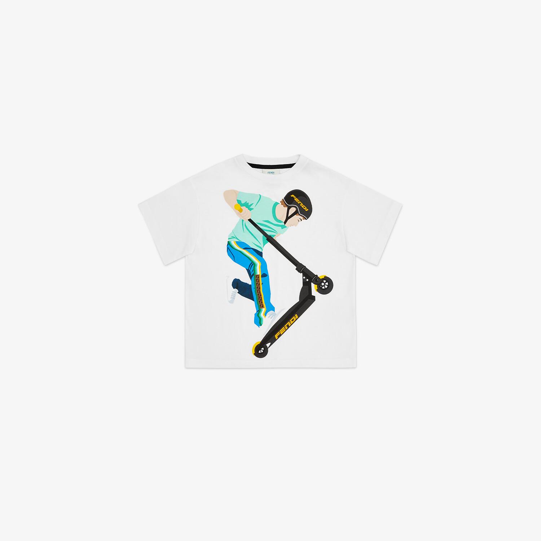 FENDI JUNIOR T-SHIRT - Junior T-Shirt aus Jersey in Weiß und Mehrfarbig - view 1 detail