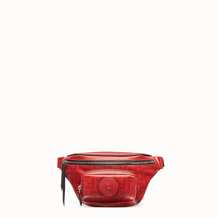 FENDI BELT BAG - Red fabric belt bag - view 1 detail