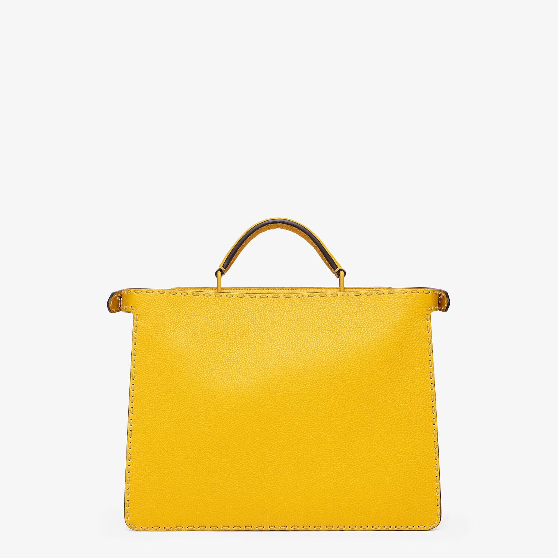 FENDI PEEKABOO ISEEU MEDIUM - Yellow leather bag - view 4 detail