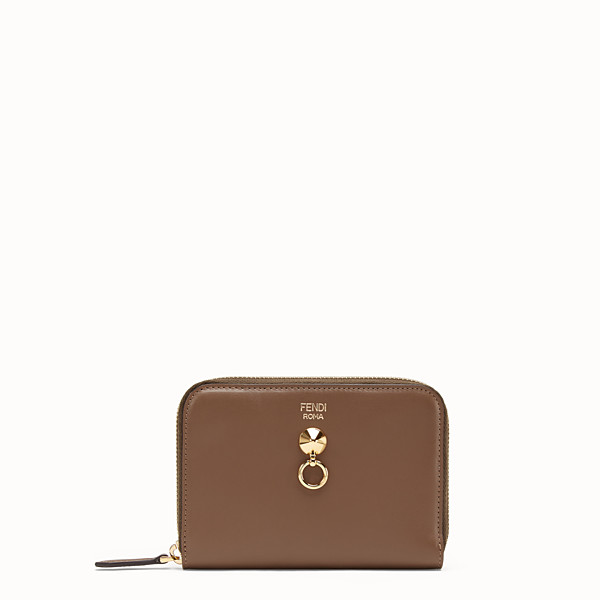 FENDI ZIP-AROUND - Brown leather wallet - view 1 small thumbnail