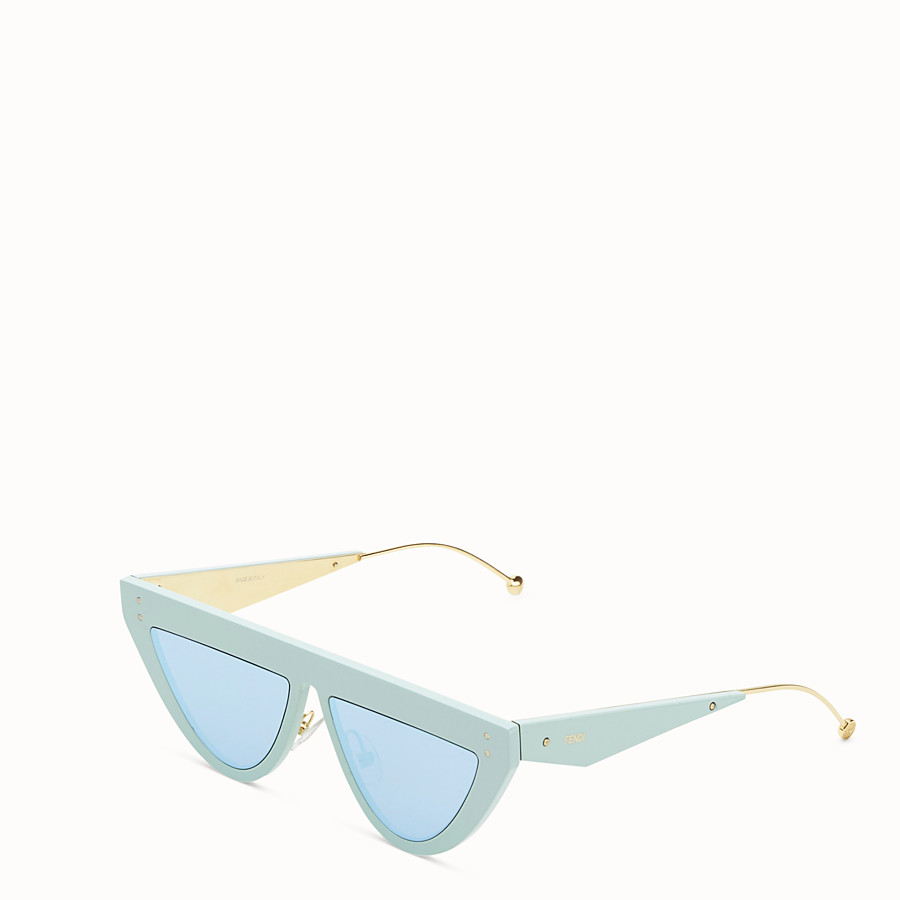 FENDI DEFENDER - Aquamarine sunglasses - view 2 detail