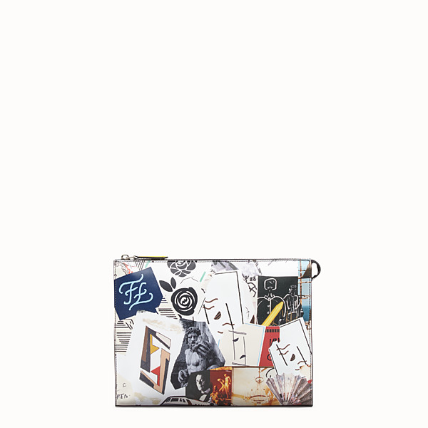 FENDI CLUTCH - Multicolour leather pochette - view 1 small thumbnail
