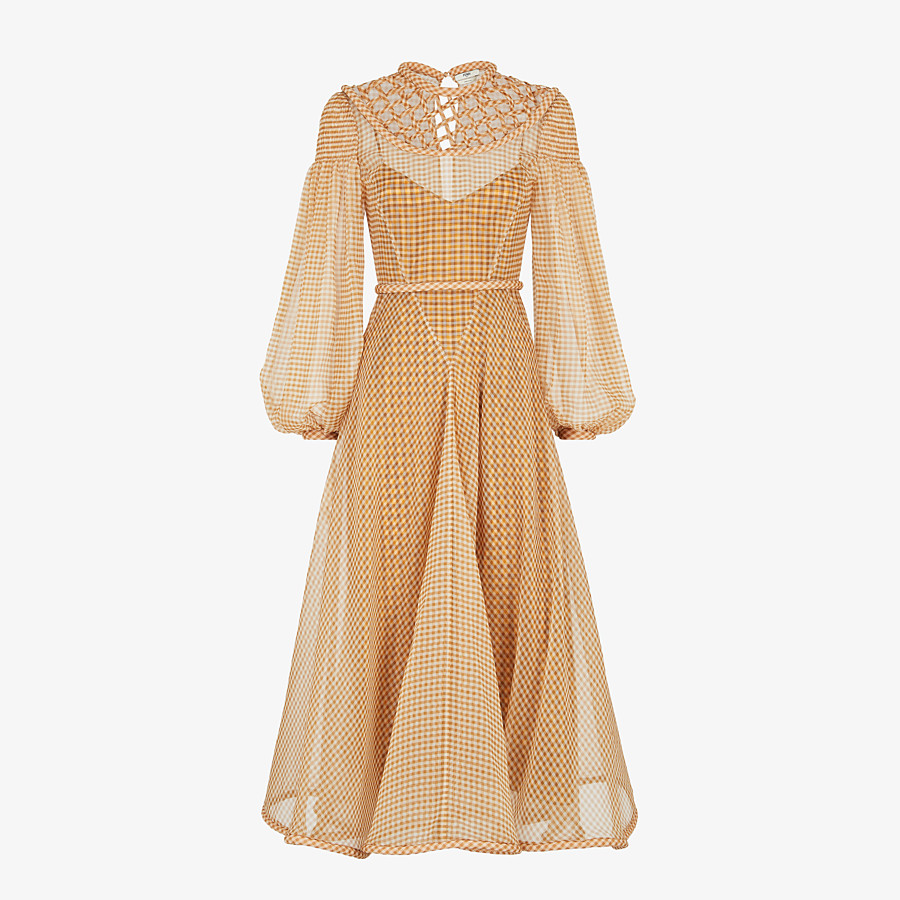FENDI DRESS - Check organza dress - view 1 detail