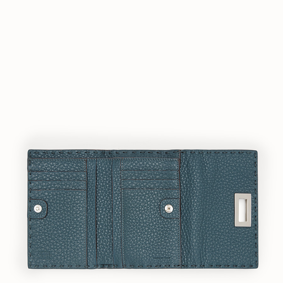 FENDI CONTINENTAL MEDIUM - Selleria medium blue continental wallet - view 5 detail