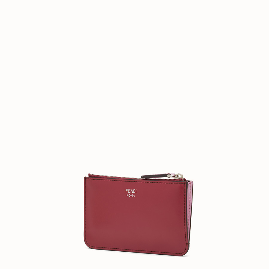 FENDI KEYRING POUCH - Red leather pouch - view 2 detail