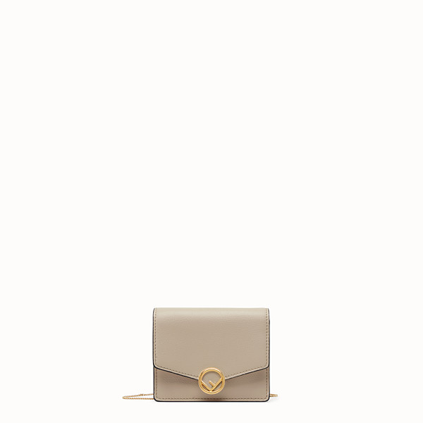 FENDI WALLET ON CHAIN - Beige leather mini-bag - view 1 small thumbnail