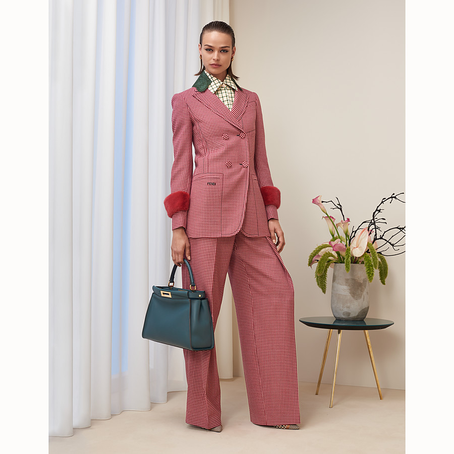 FENDI TROUSERS - Multicolour wool trousers - view 4 detail