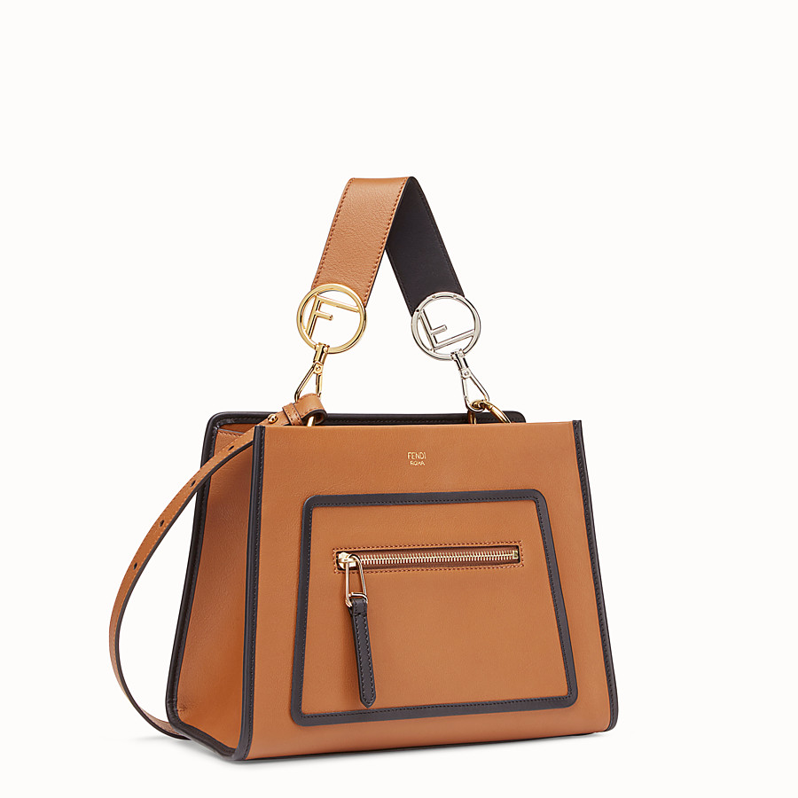 FENDI RUNAWAY SMALL - Beige leather bag - view 2 detail