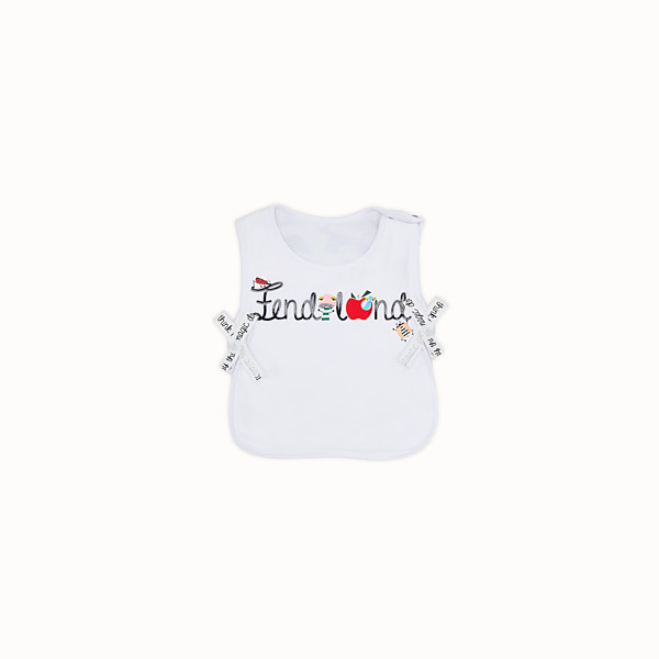 FENDI BUNX BIB - White, beige and multicolour jersey bib - view 1 small thumbnail