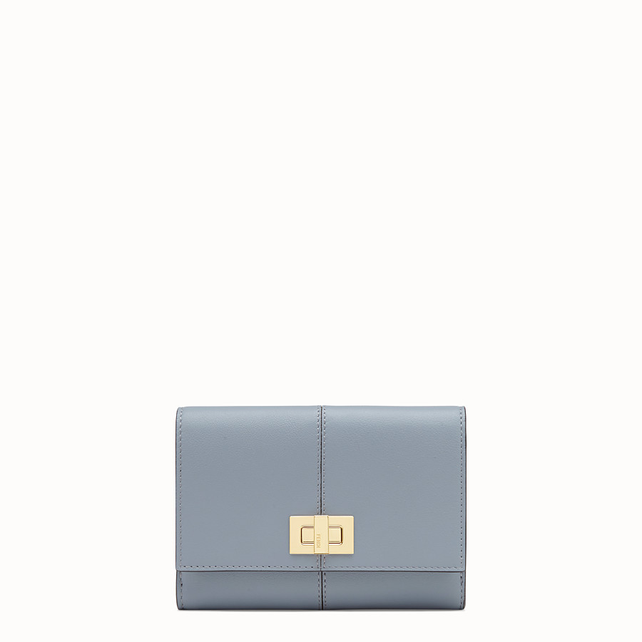FENDI WALLET - Grey leather cardholder - view 1 detail