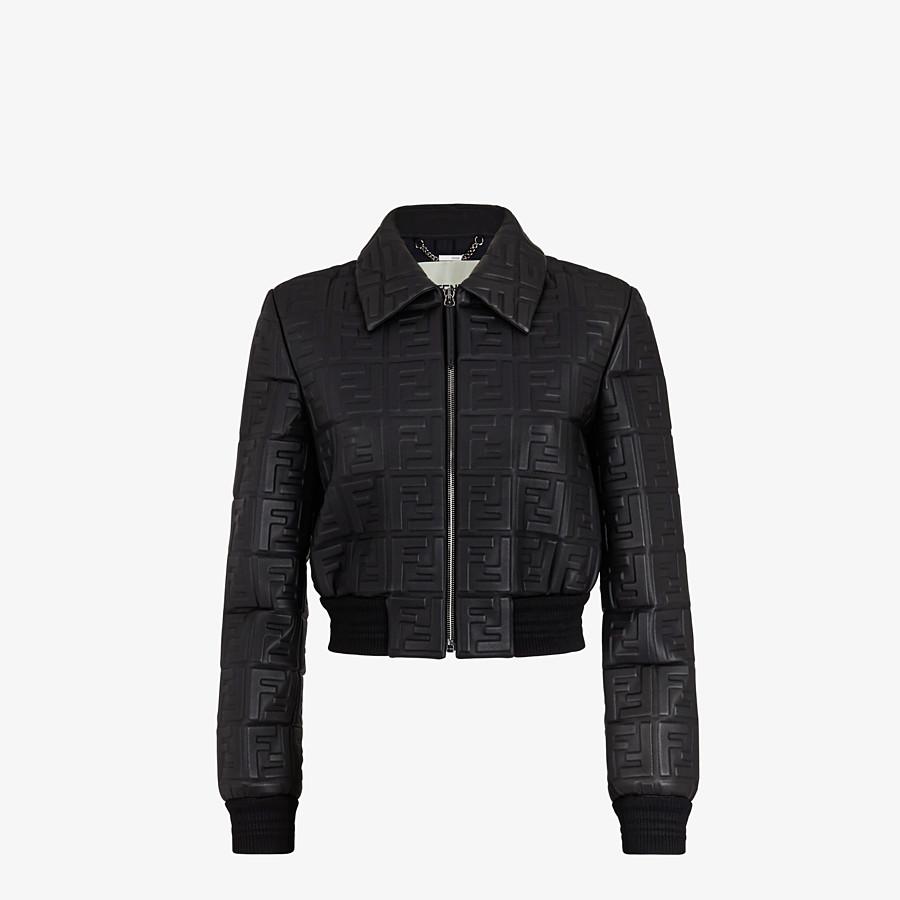 FENDI JACKET - Black leather jacket - view 1 detail