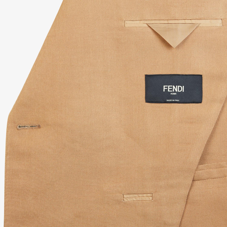 FENDI JACKET - Blazer in brown silk - view 5 detail