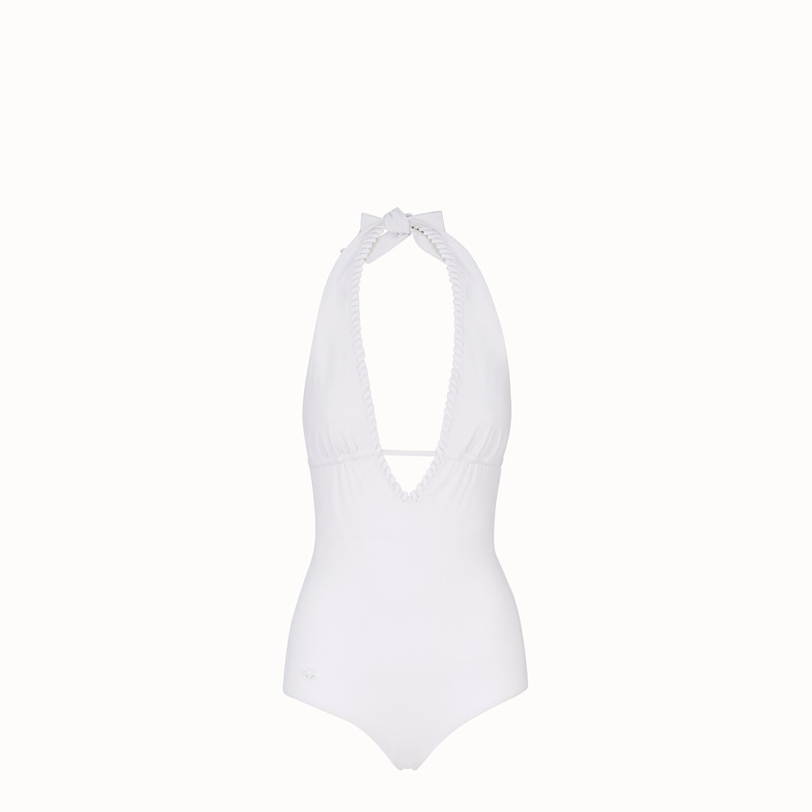 FENDI ONE-PIECE SWIMSUIT - White tech fabric swimsuit - view 1 detail