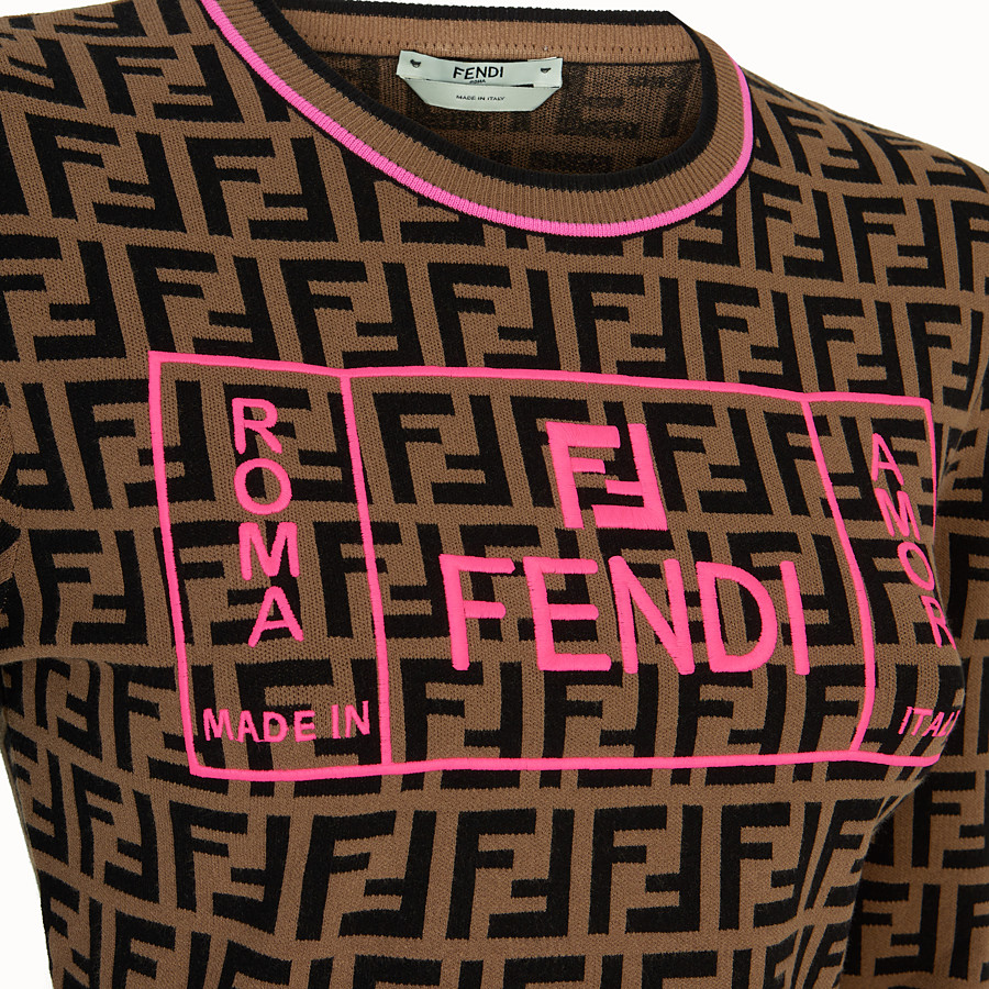 FENDI JUMPER - Fendi Roma Amor fabric jumper - view 3 detail