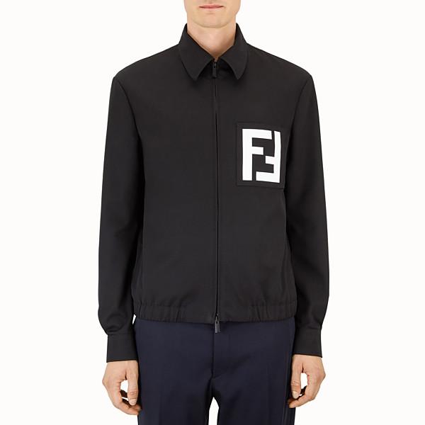 FENDI JACKET - Black gabardine jacket - view 1 small thumbnail