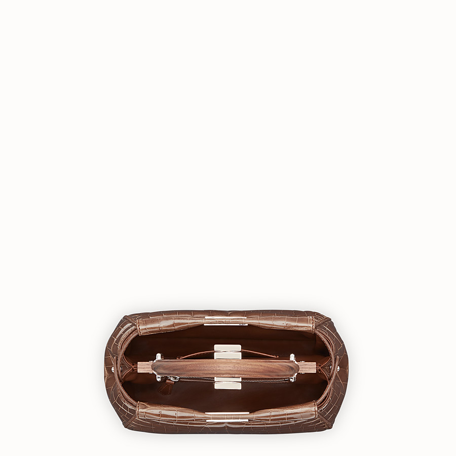 FENDI PEEKABOO MINI - Brown crocodile bag - view 4 detail