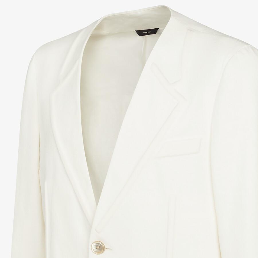 FENDI JACKET - White linen blazer - view 4 detail