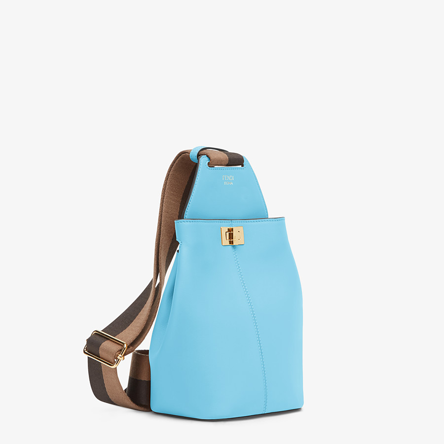 FENDI GUITAR BAG - Light blue leather mini-bag - view 3 detail