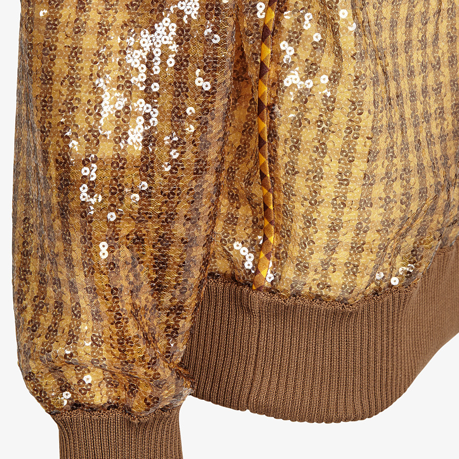 FENDI JUMPER - Vichy sequin pullover - view 3 detail