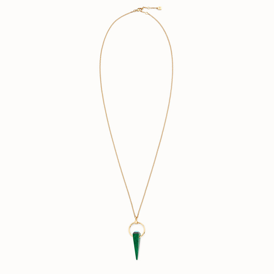 FENDI RAINBOW NECKLACE - Necklace with green charm - view 1 detail