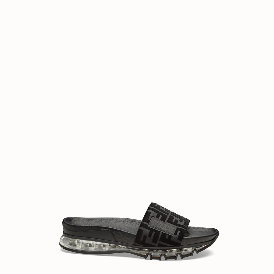 FENDI SANDALS - Fendi slides for Jackson Wang in PU and Lycra® - view 1 detail