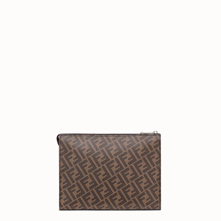 FENDI CLUTCH - Pochette in tessuto marrone - vista 3 dettaglio