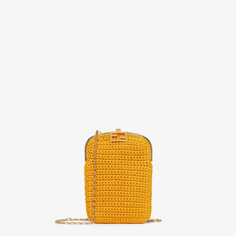 FENDI BAGUETTE PHONE BAG - Orange fabric mini-bag - view 1 detail