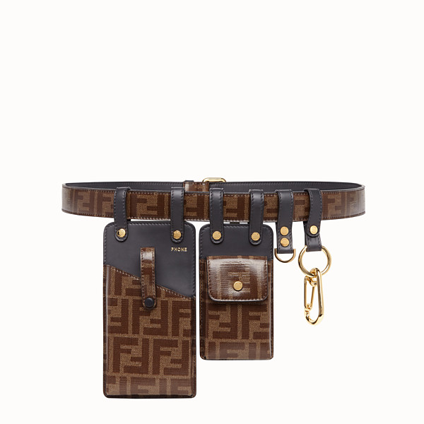 FENDI CEINTURE - Ceinture en tissu marron - view 1 small thumbnail