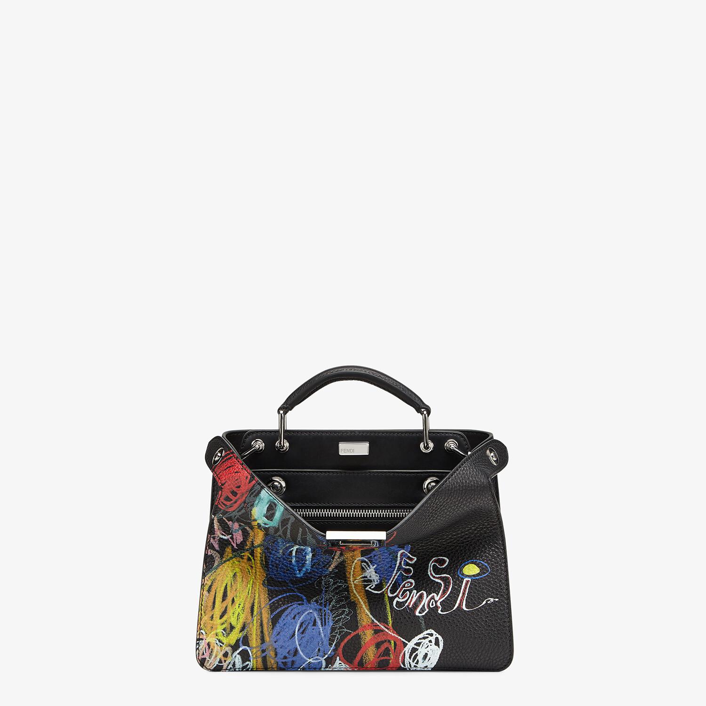 FENDI PEEKABOO ISEEU MINI - Leather bag with multicolor print - view 1 detail
