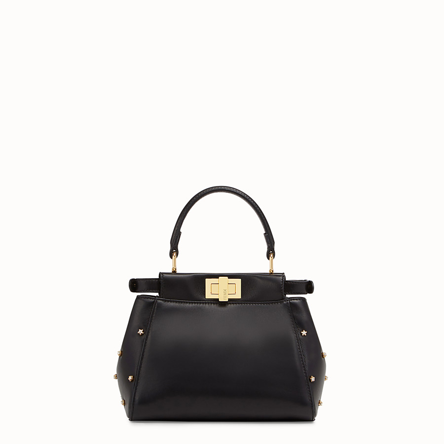 FENDI PEEKABOO ICONIC XS - Black leather mini-bag - view 3 detail