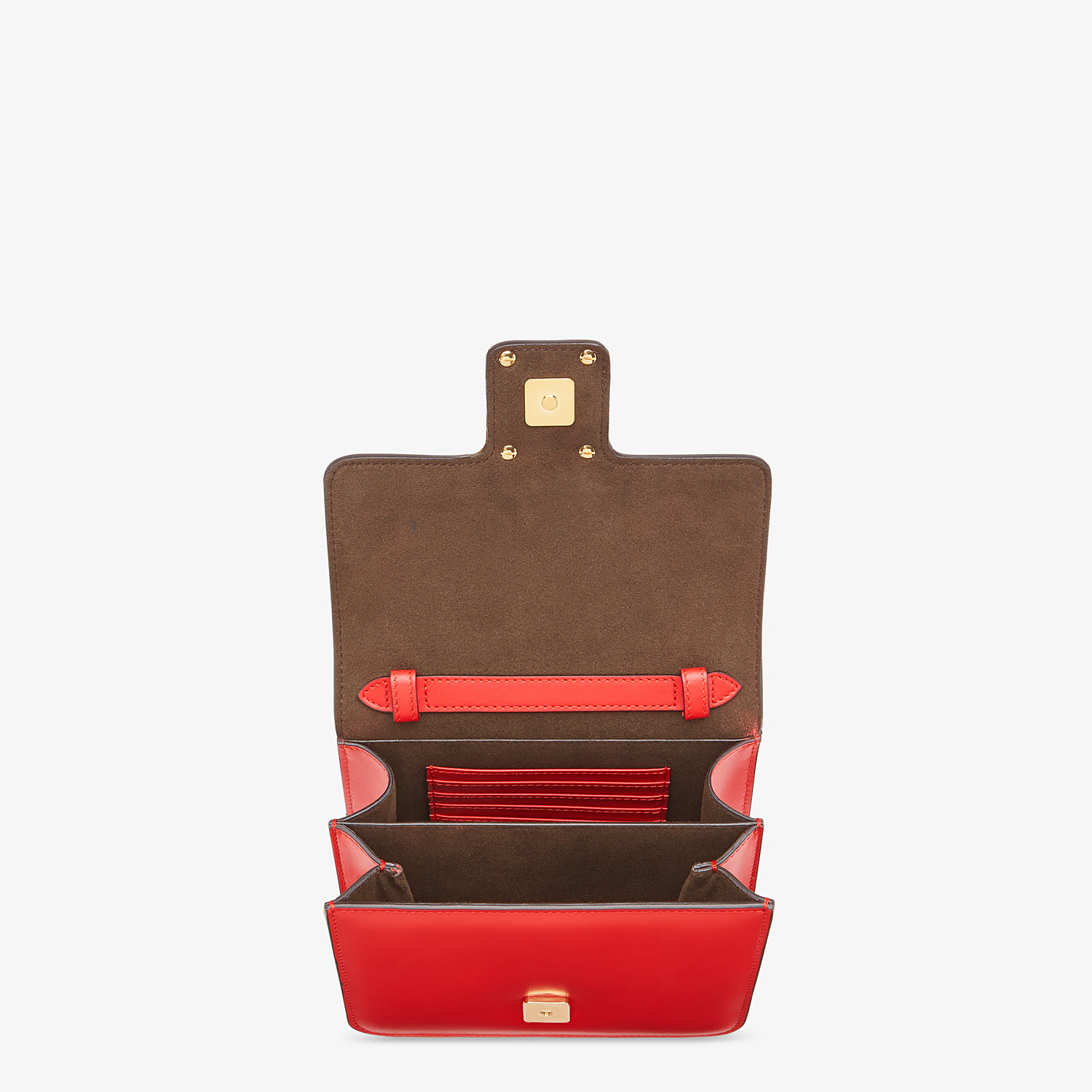 FENDI FENDI FAB - Red leather bag - view 4 detail