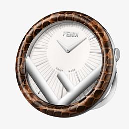 FENDI RELOJ DE SOBREMESA RUN AWAY - 60 mm - Reloj de sobremesa con el logotipo F is Fendi - view 1 thumbnail