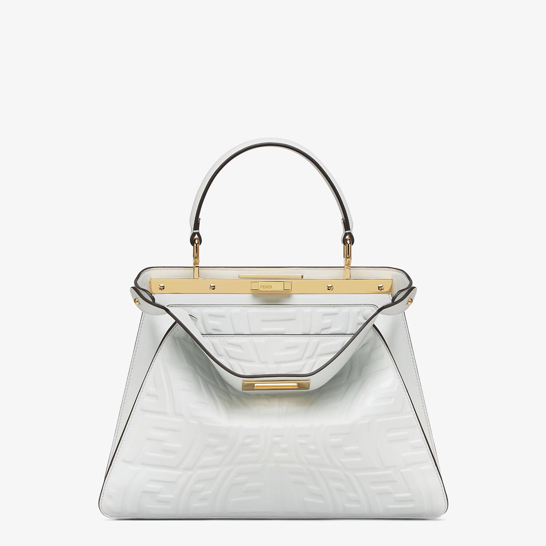 FENDI PEEKABOO ISEEU MEDIUM - White nappa leather bag with a glow in the dark FF - view 1 detail