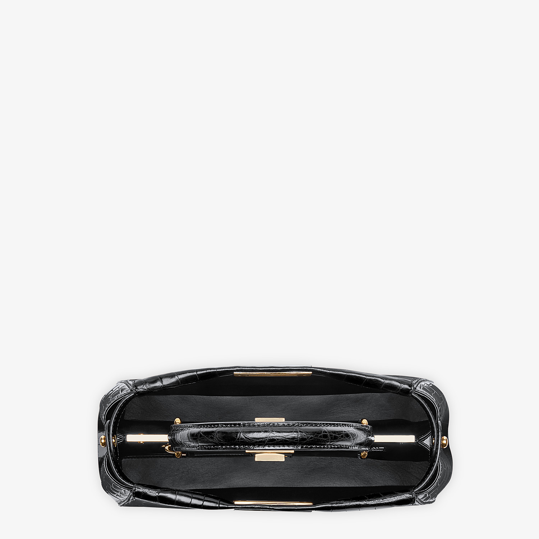 FENDI PEEKABOO ICONIC MEDIUM - Black crocodile leather handbag. - view 4 detail