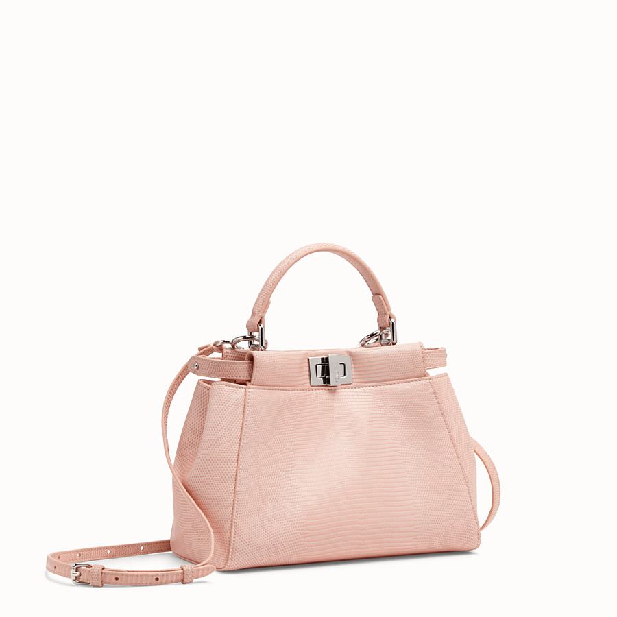 FENDI PEEKABOO MINI - Pink lizard leather bag - view 2 detail