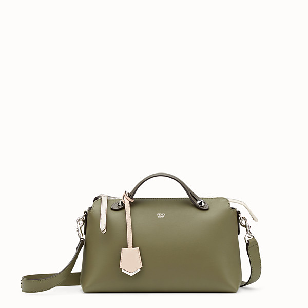 FENDI BY THE WAY REGULAR - Green leather Boston bag - view 1 small thumbnail