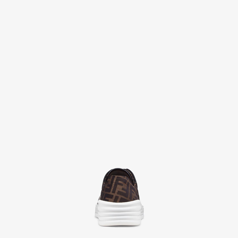 FENDI SNEAKERS - Black leather low-tops - view 3 detail