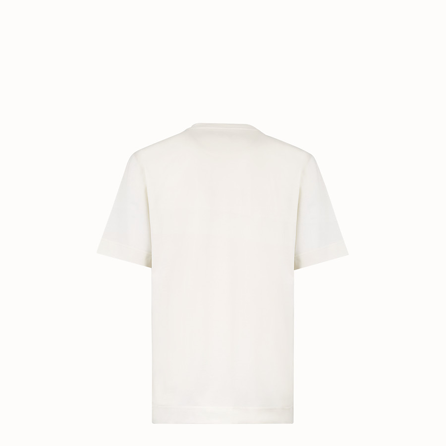 FENDI T-SHIRT - White cotton jersey T-shirt - view 2 detail