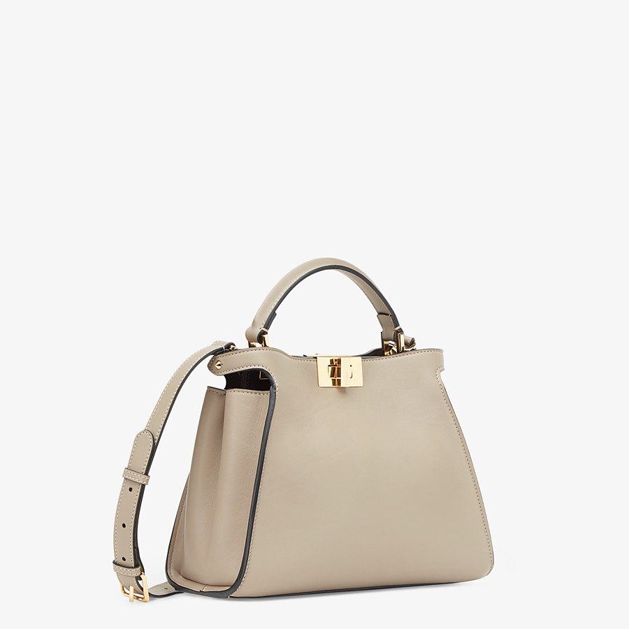 FENDI PEEKABOO ICONIC ESSENTIALLY - Dove gray leather bag - view 2 detail